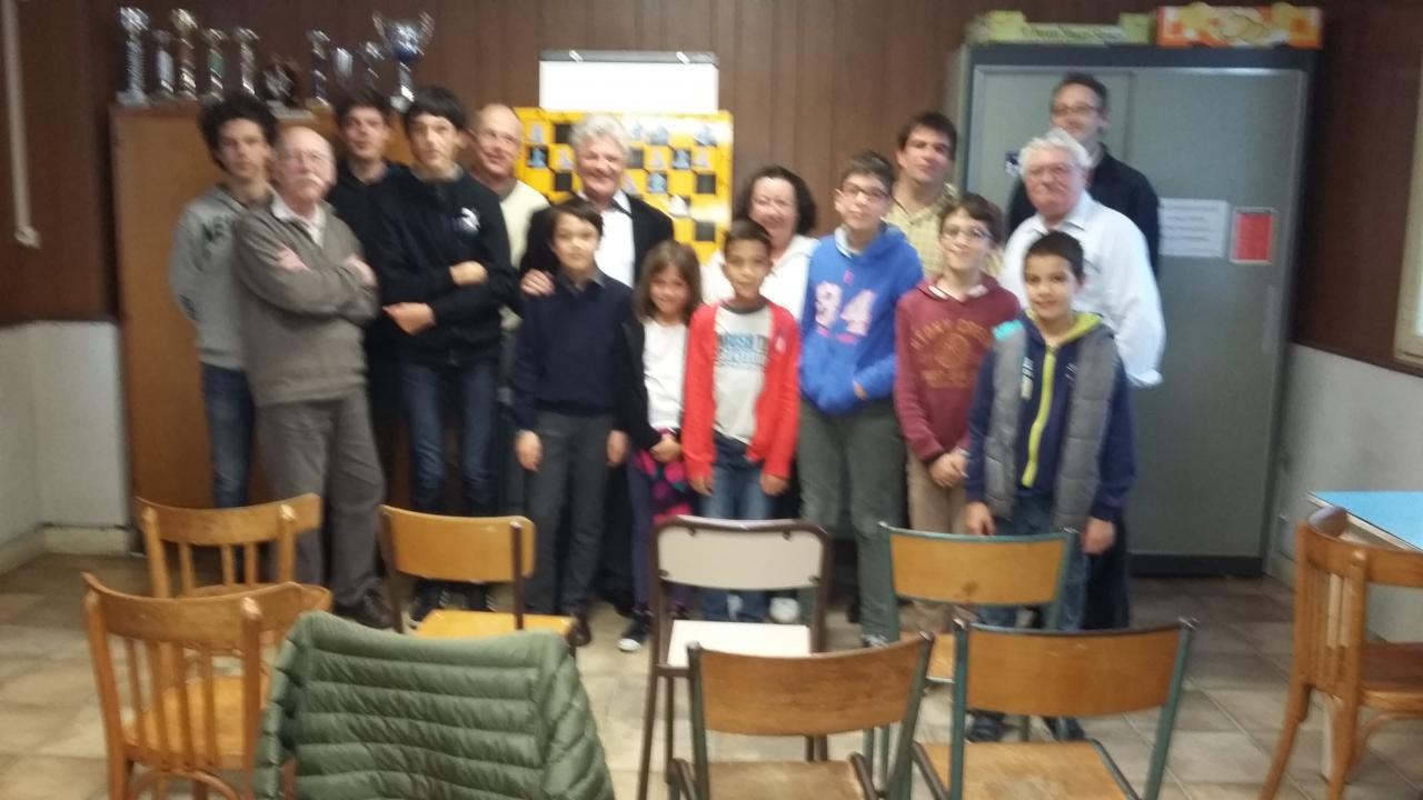 Photo de groupe lors du cours de Damir