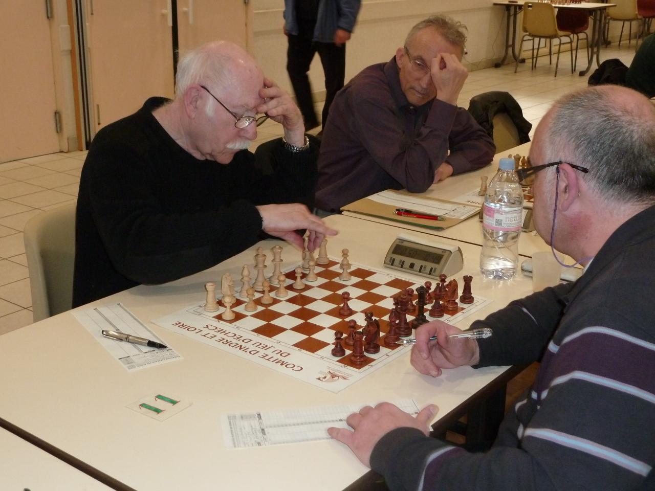Pierre André lors de la première ronde