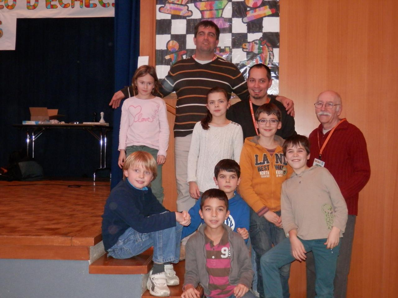 Les représentants du club au championnat scolaire