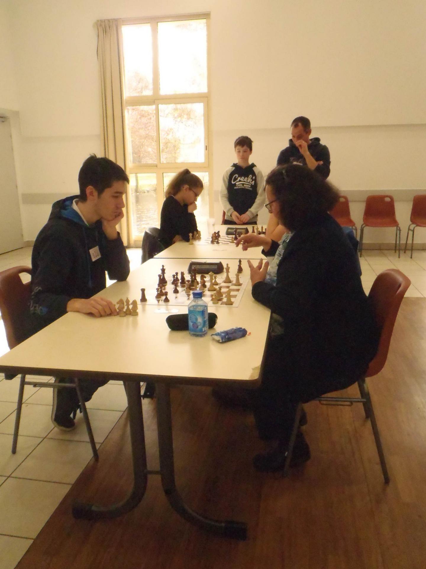 Quentin contre Christine à la cinquième ronde