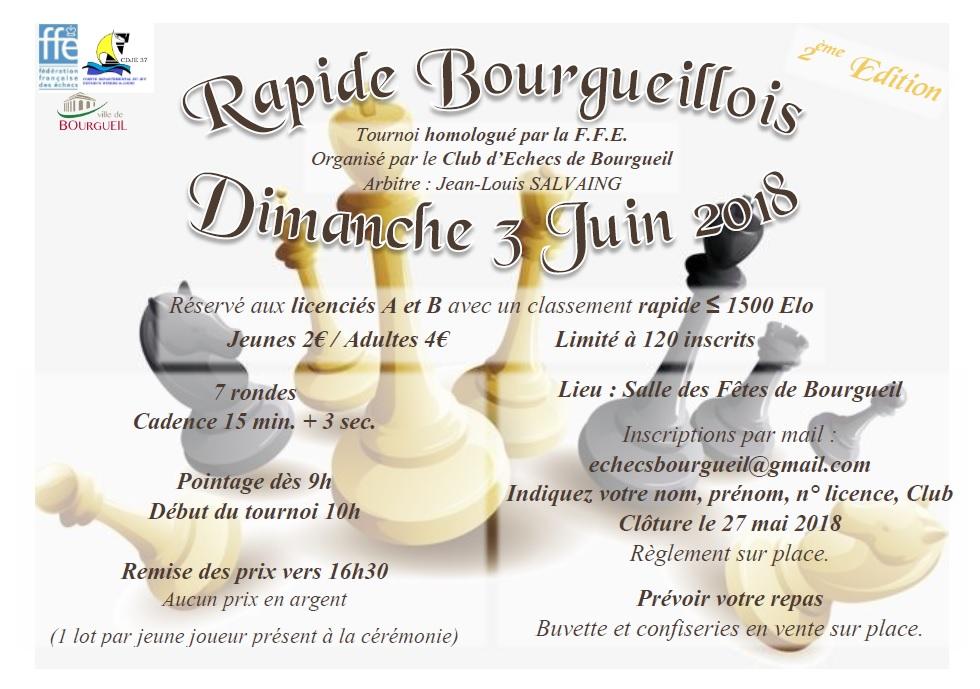 Affiche 2eme edition rapide de bourgueil